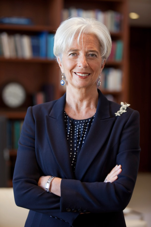 Christine Lagarde - Diretora-Geral do FMI(Fonte:)