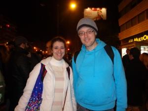Alexandra Martins e David Santos, membros da Plataforma