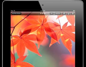 A quarta geração do iPad possui um display Retina de 9,7 polegadas, um chip A6X, câmera HD FaceTime, iOS 6.1 e um desempenho rápido de wireless(Fonte: ww.apple.com)