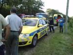 A estrada nacional 121 esteve cortada durante cerca de 2 horas(Fonte:diariobombeiro.blogspot.com)