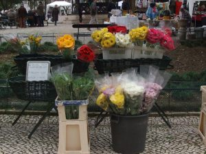 A florista tem lugar cativo aos fim de semana no Jardim da Parada.