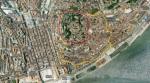 Contorno Vermelho: Bairro do CasteloContorno Amarelo: Bairro de Alfama(Fonte:Google Maps)