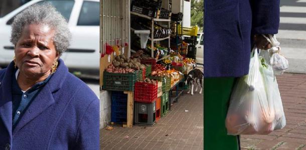 Dona Mariana faz as compras do dia-a-dia