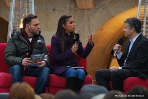 Mónica Jardim e Nuno Eiró na apresentação do programa « Somos Portugal» em Miranda do Douro.Fonte: TVI