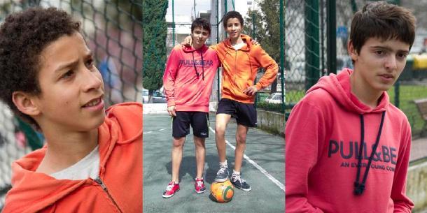 Gabriel- os dois amigos depois deum jogo de futebol -Nuno