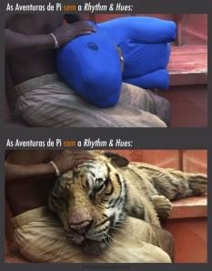 """Antes e depois dos efeitos visuais no filme """"A Vida de Pi""""(Fonte: cinemacomrapadura.com.br)"""